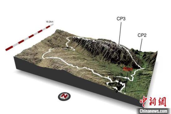 发生事故的CP2(河谷)至CP3(山顶)爬坡赛段示意图。 中科院大气所 供图