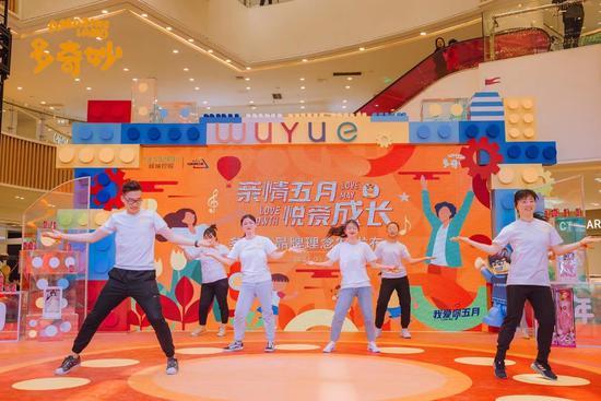 图为武进站发布会舞蹈表演。