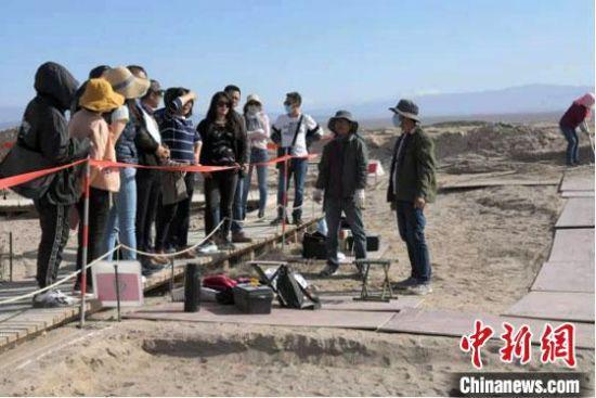 5月下旬,世界文化遗产甘肃锁阳城塔尔寺遗址2021年度考古发掘工作启动。 张硕 摄