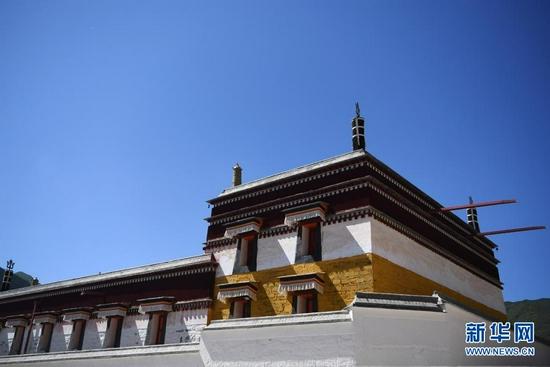 这是已经完成修缮的拉卜楞寺佛殿建筑(7月12日摄)。新华社记者 陈斌 摄