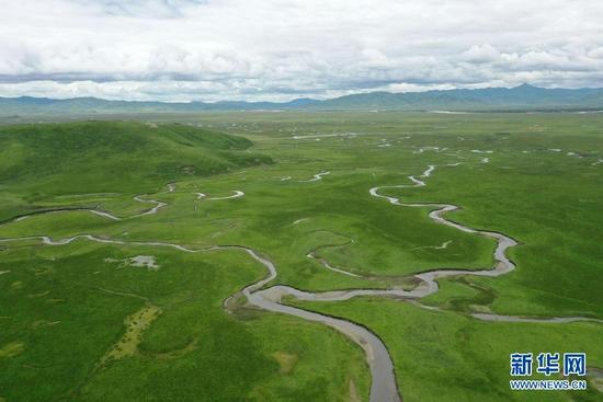 甘肃玛曲:高原湿地美