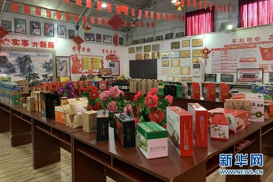 胡家大庄村生产的各类农副产品。新华社记者 张玉洁 摄