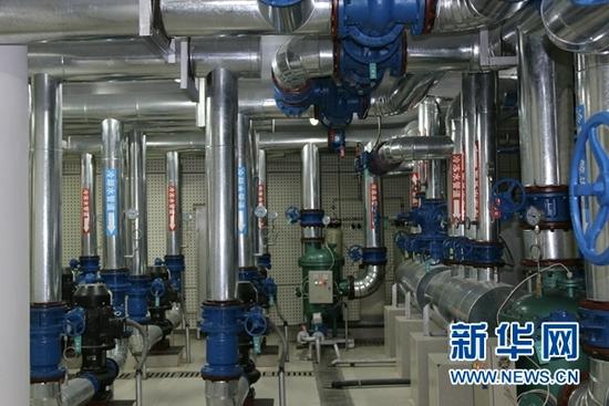 地源热泵管道(资料照片)。(敦煌研究院供图)