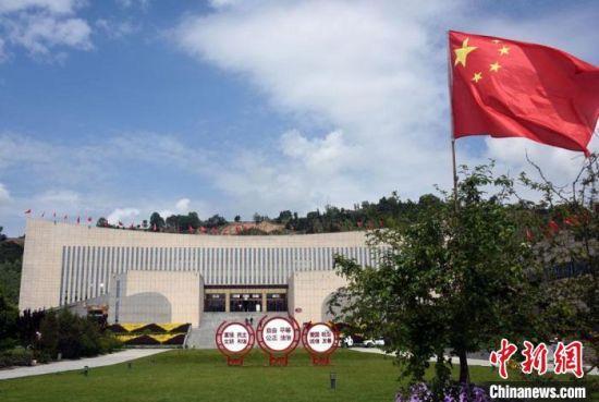 和政古动物化石博物馆主展馆外景。 中新社记者 孙自法 摄