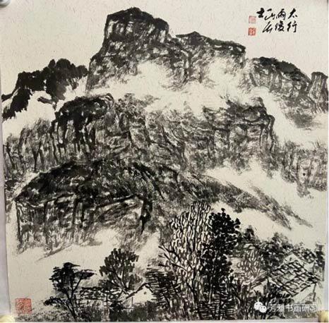 杨长喜太行雨后50*50CM