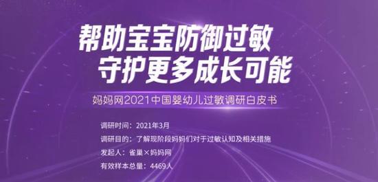 《2021中国婴幼儿过敏白皮书》