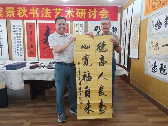 龚景秋与老领导胡修干同志