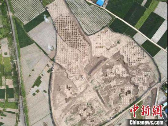 图为圪垯川遗址发掘区正射影像。(资料图) 张鹏 摄