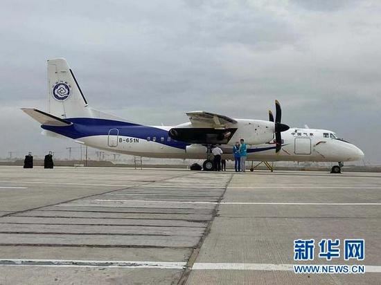 图为新舟60国家作业飞机。新华社记者王朋 摄