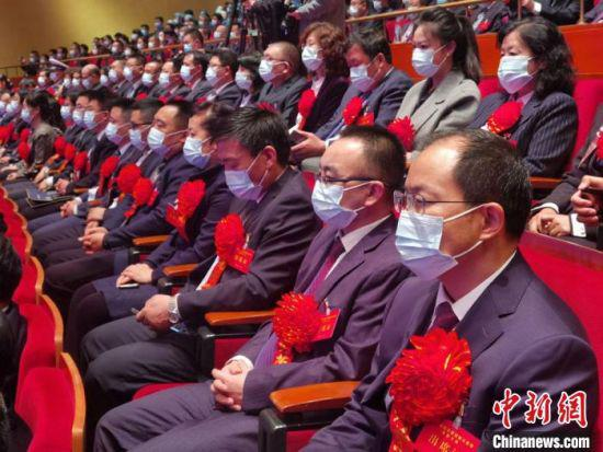 图为甘肃省抗击新冠肺炎疫情表彰大会现场。 崔琳 摄