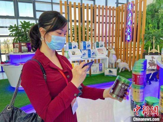 6月7日上午,华媒代表在甘肃环县麦上客杂粮公司采访。 高展 摄