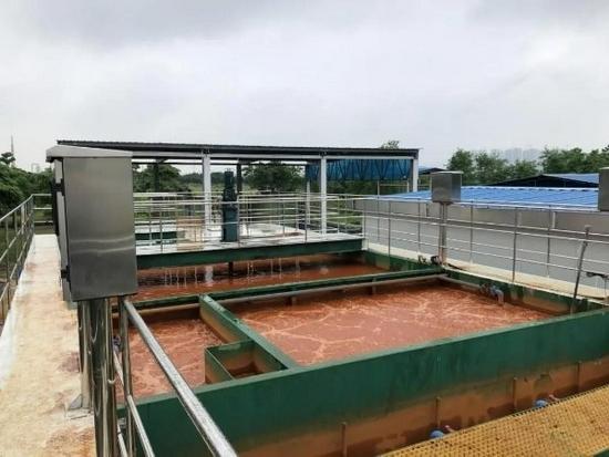 图为广州南沙小虎岛污水厂膜芬顿示范项目