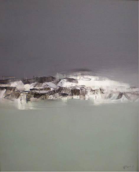 杨老师作品《橘子洲意象》80×70cm 布面油画