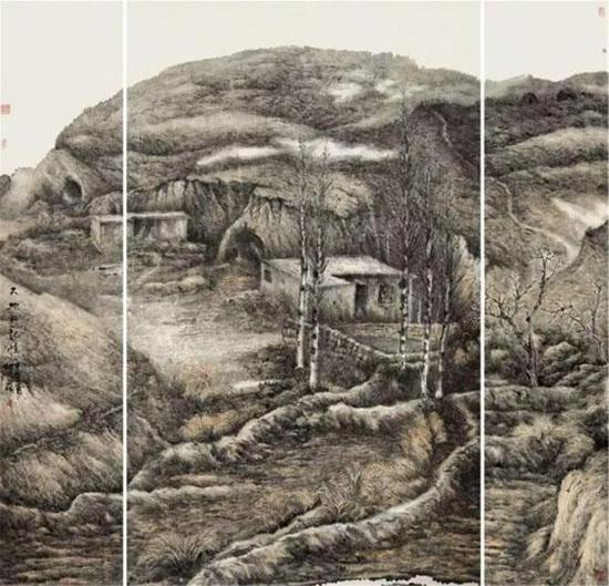 《大地的记忆》180cm×180cm