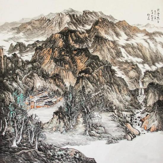 《武当梵音》180cm×180cm