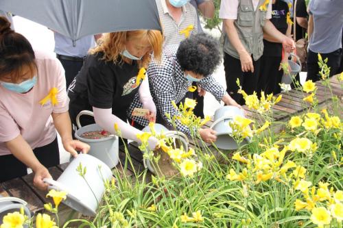 图为:生态葬安葬现场(二)