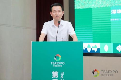 第二届兰州茶博会项目经理刘永鹏汇报展会情况