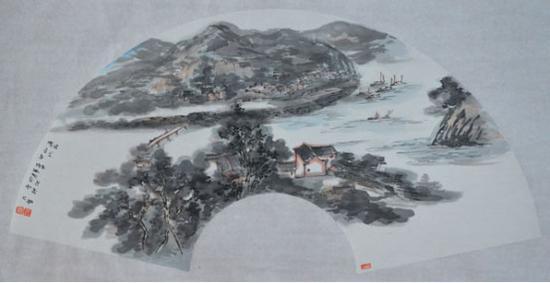 《画在山水中》70cm×34cm