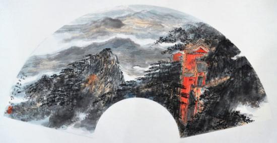 《武当山写生》70cm×34cm