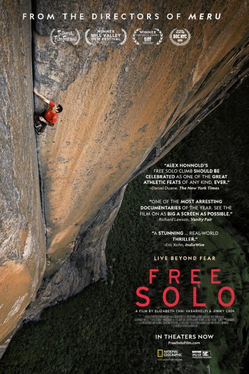 """《徒手攀岩》,讲述了亚历克斯徒手攀登""""酋长岩""""的故事"""