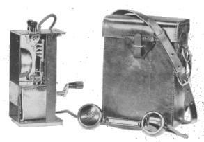 图2-磁石皮袋携带式电话机
