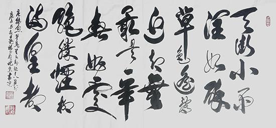 柳尧福作品 《唐韩愈〈早春呈水部张十八员外〉》