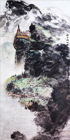 梁桂才作品 《瑞士阿尔卑斯山少女峰》