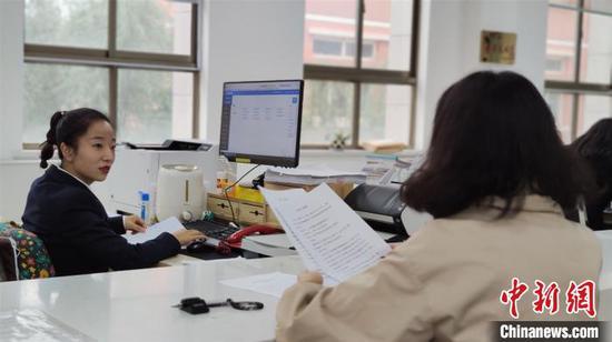9月9日,甘肃省定西市中级人民法院案件受理窗口。