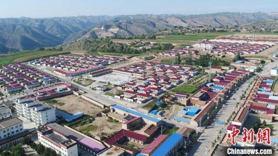 甘肃庆阳市环县八珠乡易地扶贫搬迁点。环县融媒体中心供图