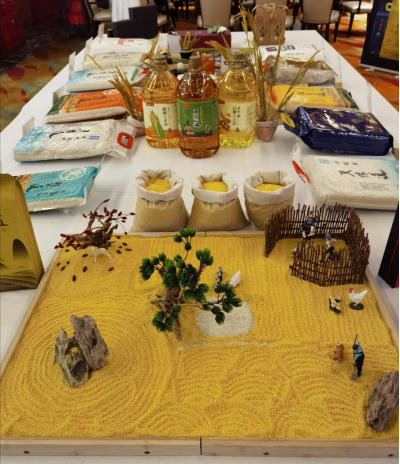 现场体验区用天地道系列产品摆出的创意陈列充分诠释了中国的米文化