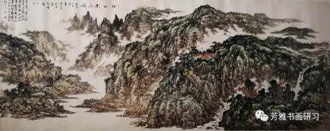 杨长喜江山无尽图144*366CM