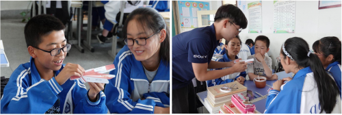 西安交通大学学生志愿者在甘肃临夏积石山县移民中学