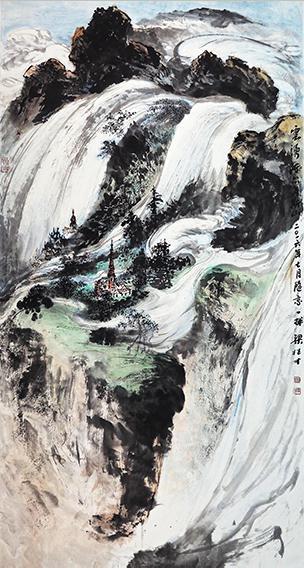 梁桂才作品《云涌阿尔卑斯山》