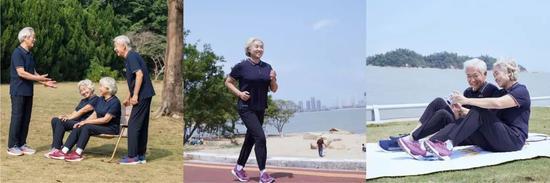 老人们穿上足力健老人鞋 更显年轻时尚有活力