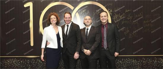 图:从左到右分别是:Ivana Mugnano,Alessandro Mugnano,Enrico Palmentieri,Ferdinando Rizzo