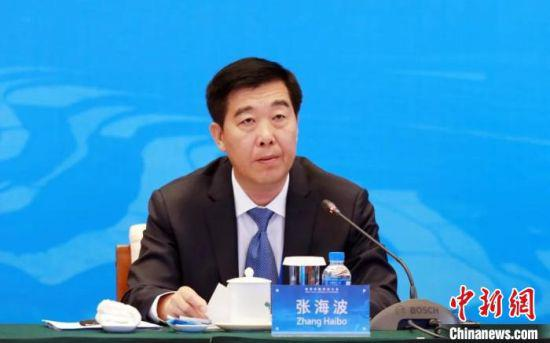 图为甘肃省高级人民法院院长张海波在会上发言。(资料图) 甘肃省高院供图