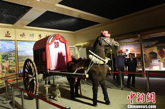 展览馆展出的马拉婚嫁轿子车。 杨艳敏 摄