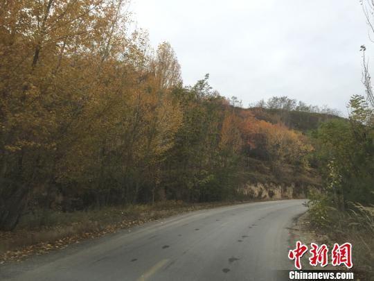 资料图。图为甘肃的自然村道路。 侯志雄 摄