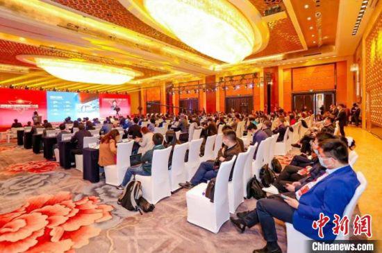 4月2日,2021环球城市招商引资推介大会在北京举办。兰州新区供图