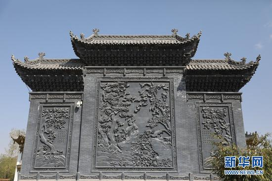 用于影壁的砖雕装饰。
