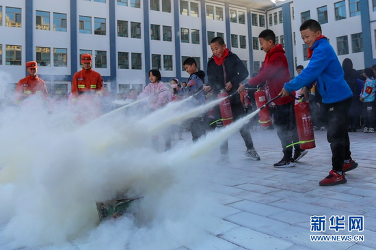 甘肃张掖:防火宣传进校园