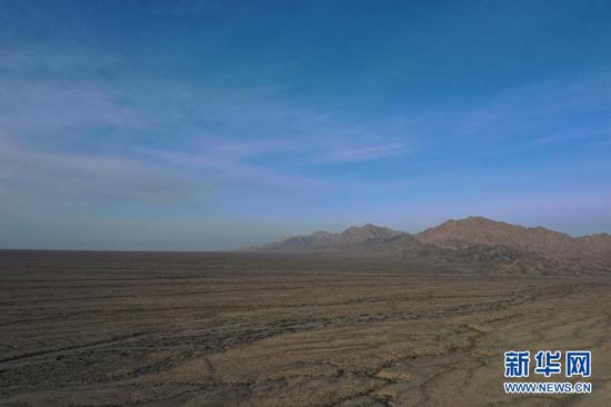 这是1月8日拍摄的甘肃安南坝野骆驼国家级自然保护区(无人机照片)。新华社记者 杜哲宇 摄