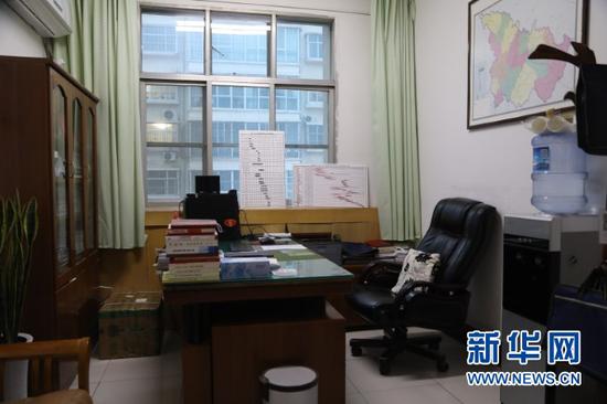 这是邱军的办公室(1月23日摄)。新华社记者 马莎 摄