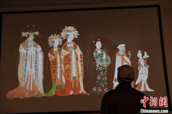 图为敦煌研究院数字展。(资料图) 杨艳敏 摄