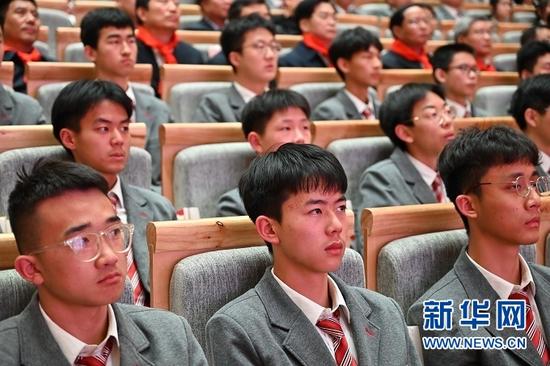 """""""学党史、颂党恩、跟党走——红色文化进校园""""活动现场。杜哲宇 摄"""
