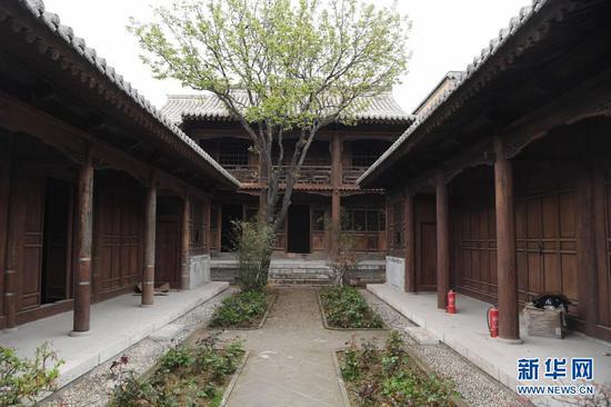 这是一处已经完成修缮的文物保护院落(4月13日摄)。新华社记者 陈斌 摄