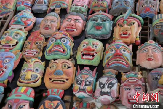 """""""傩""""意为""""惊驱疫厉之鬼"""",起源于汉族先民的自然崇拜、图腾崇拜和巫术意识。 闫姣 摄"""