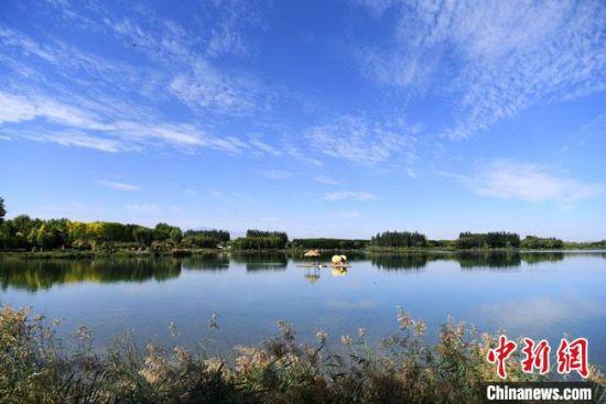 2020年9月3日,甘肃张掖甘州区芦水湾生态景区。(资料图) 杨艳敏 摄