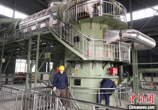 5月18日,兰州市榆中县金崖镇生活垃圾热解气化处理场正式运行。