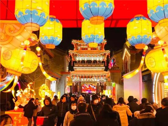 甘肃文旅市场的灯会。来源:甘肃省文旅厅。